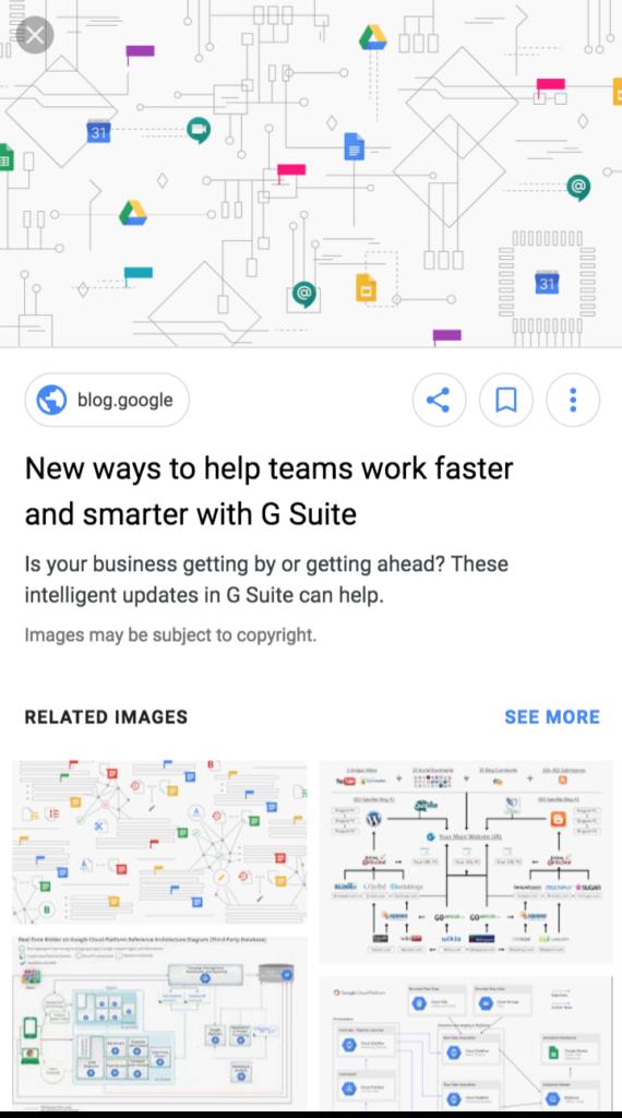 Google görsel aramalarında başlık ve açıklama görünümü
