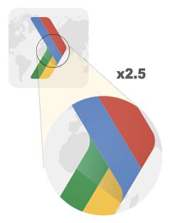 Yakınlaştırılmış vektör resmi